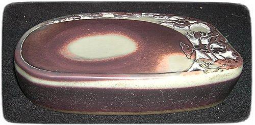 紫袍玉帶荷塘清趣硯