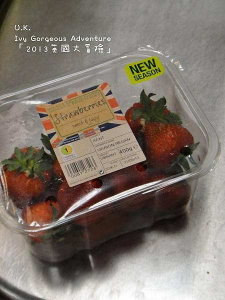 4英鎊一盒的草莓