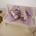 12、浪漫紫玫瑰多層立體蝴蝶結(大)