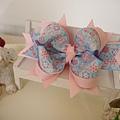 14、粉藍萬花筒多層立體蝴蝶結