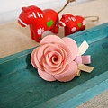(售完)19、淡淡粉紅薔薇髮夾(可追加)