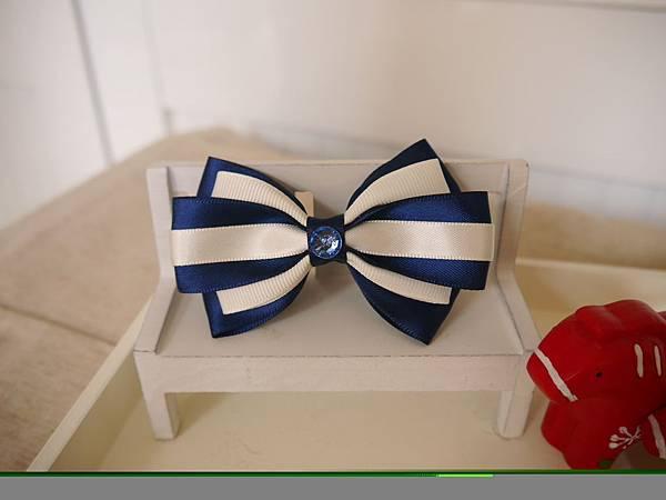 12、優雅藍白藏色多層蝴蝶結