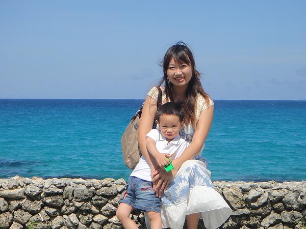 很藍的海很青的天
