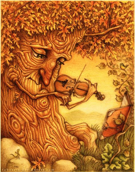 等待....就如老樹搖曳流瀉地美