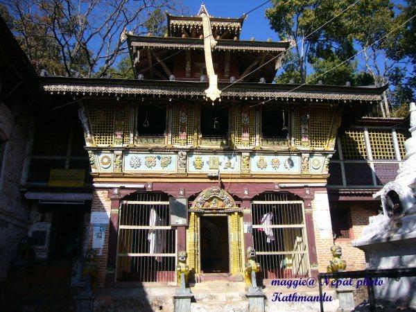 Pharping金剛亥母寺廟,現為古蹟,內部不可拍攝