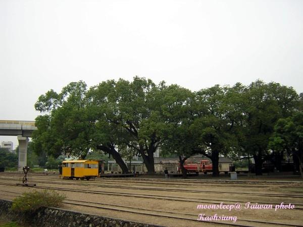 眺望鐵道內燃機車庫展館與鐵路風光