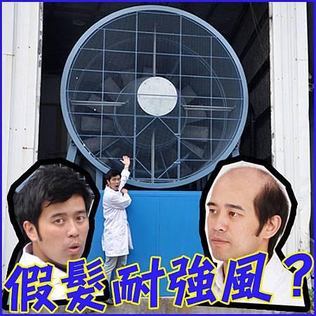科技假髮強風測試02