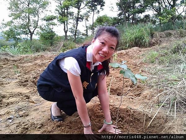 徐欣瑩立委秘書親臨現場植樹