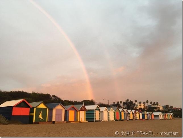 墨爾本景點:Brighton beach/彩虹小屋美景