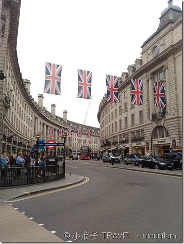 倫敦購物大道oxford street regent street
