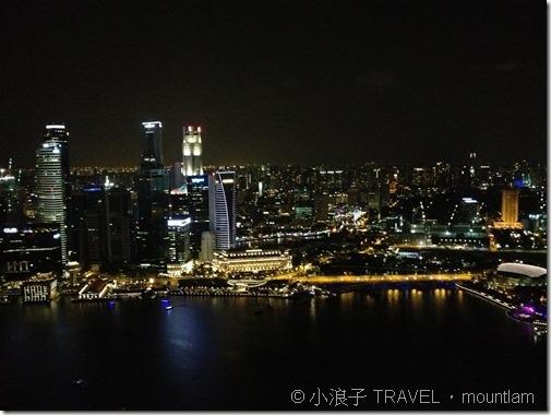 新加坡【景點】10大必去自由行旅遊景點-金沙酒店空中花園-夜景