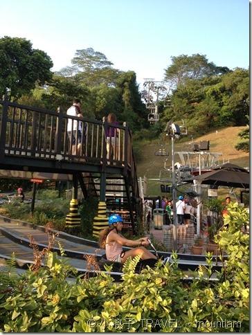 新加坡自由行 景點 聖淘沙 Sentosa Skyline Luge斜坡滑車與空中吊椅