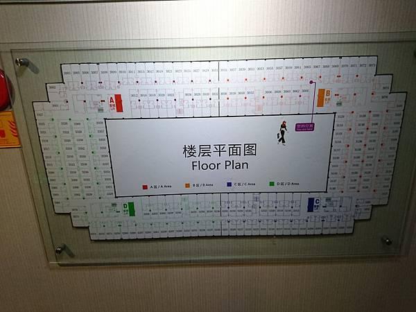 廈門住宿翔鷺酒店平面圖