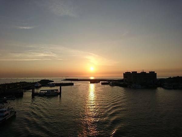 淡水漁人碼頭美麗日落