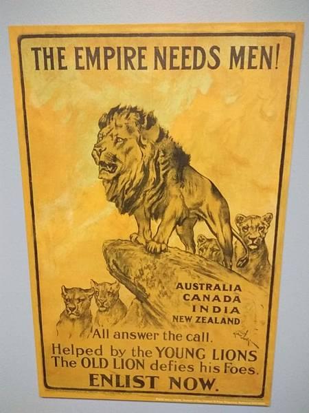 Christchurch市內景點-air force museum內的二戰時期的宣傳海報