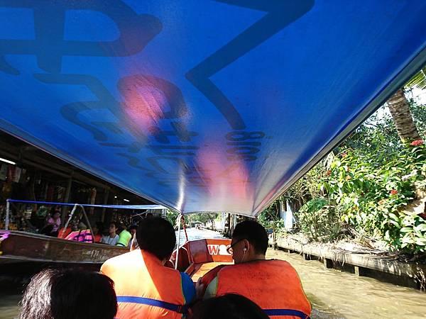 丹能莎朵水上市場電動長尾船