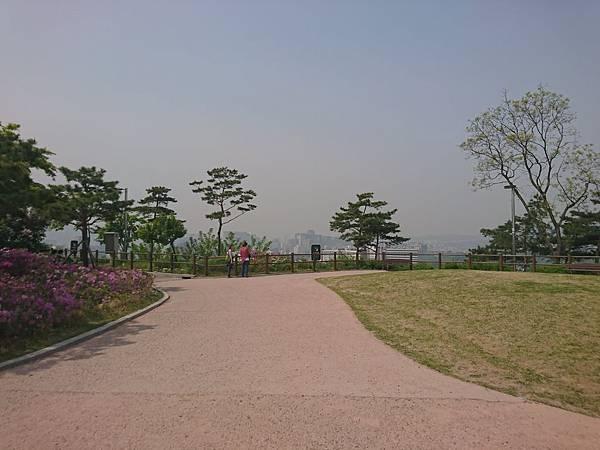 駱山公園看首爾全景