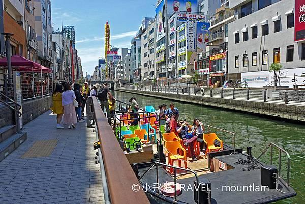 osaka amazing pass景點: 大阪觀光船Osaka Wonder Cruise到達道頓堀