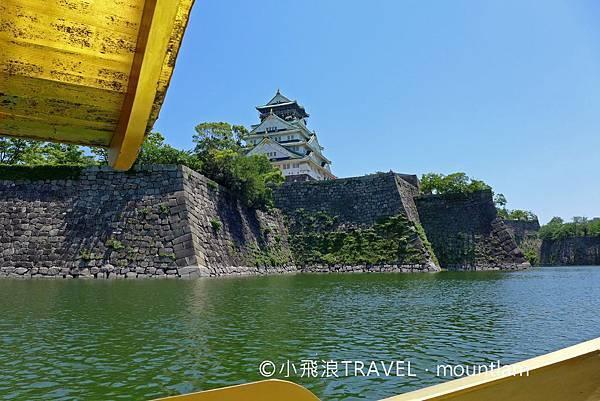 大阪周遊卡景點:坐御座船遊大阪城