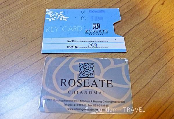 清邁古城平價住宿: 紅燕酒店Roseate Hotel Chiangmai的房卡