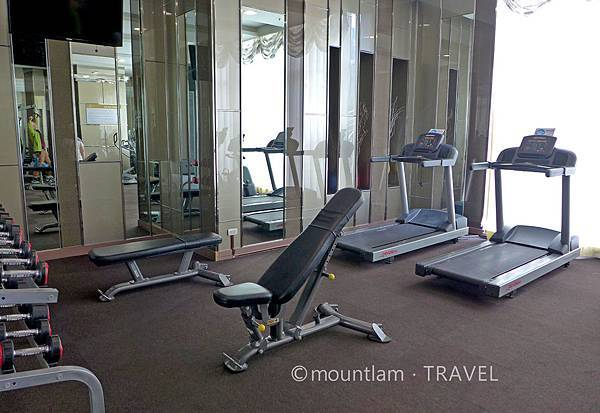 曼谷住宿:The Berkeley Hotel Pratunam水門伯克利酒店的健身室