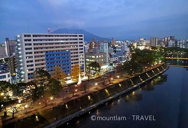 鹿兒島東急REI酒店雙人房夜景 Kagoshima Tokyu REI Hotel