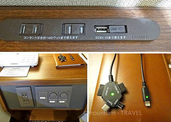 鹿兒島城山酒店高級雙人房插座 Shiroyama Hotel Kagoshima