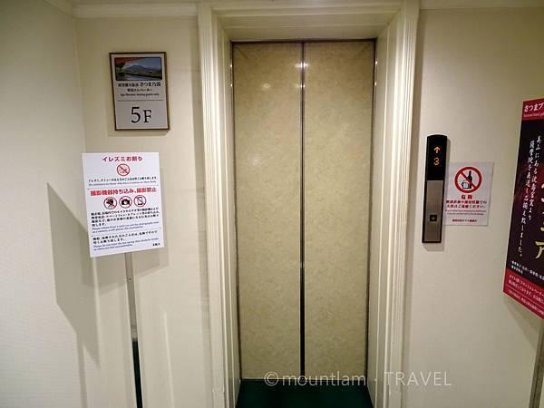 鹿兒島城山酒店住客升降機前往溫泉 Shiroyama Hotel Kagoshima