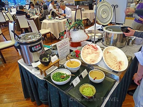 鹿兒島城山酒店早餐招牌食物鯛魚茶漬飯 Shiroyama Hotel Kagoshima