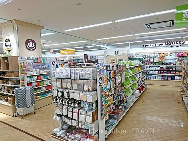 鹿兒島中央車站旁的100YEN店(WATTS)