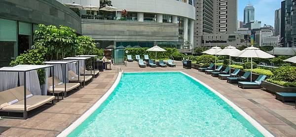 香港酒店優惠:港麗酒店staycation, conrad staycation package-泳池