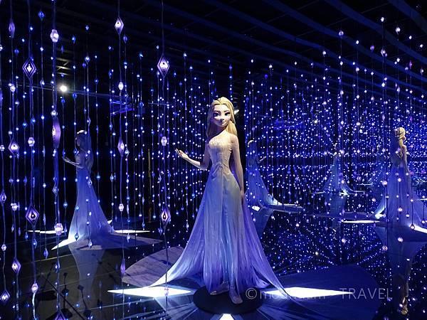 frozen展覽魔法森林女王愛莎