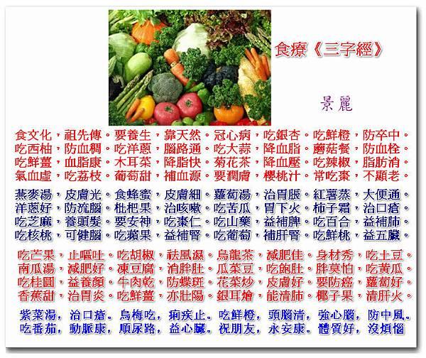 食療《三字經》2