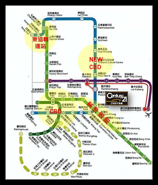 泰國投資房地產捷運圖