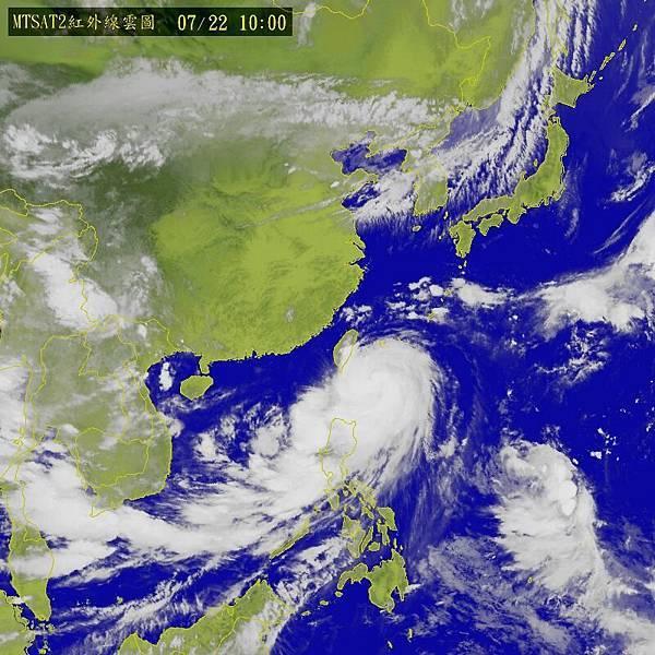 中颱麥德姆持續朝台灣逼近,全台嚴防強風豪雨
