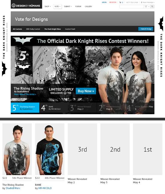 6.《黑暗騎士:黎明昇起》官方T恤設計比賽