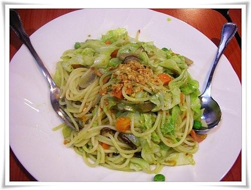 火辣蔬菜青醬pesto麵