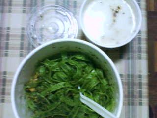 義麵屋-青醬菠菜松子麵 130元