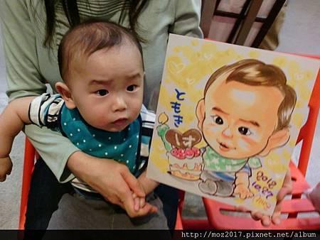 墨知在日本畫的似顏繪