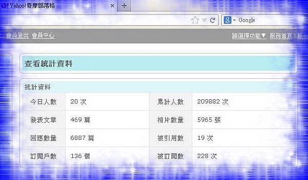 20130901雅虎部落格累計人數2