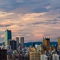 天秤颱風 夕陽