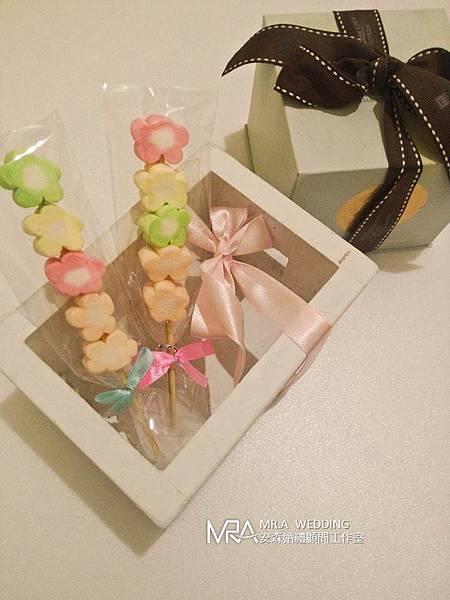 婚禮小物 - 小花朵棉花糖