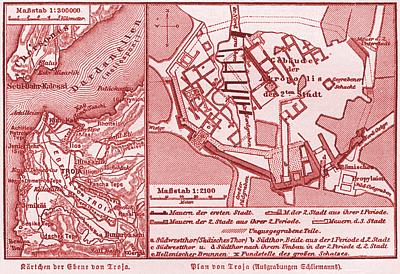 特洛伊地圖