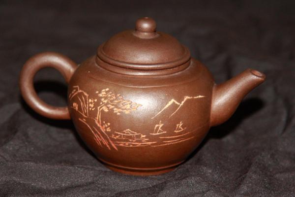 船上風光茶壺