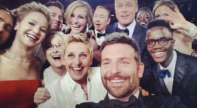史上最強自拍2014奧斯卡的selfie Ellen