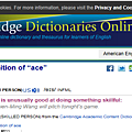 Cambridge劍橋字典把王建民歸納在例句裡面2008年