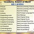 Oscar奧斯卡重要獎項