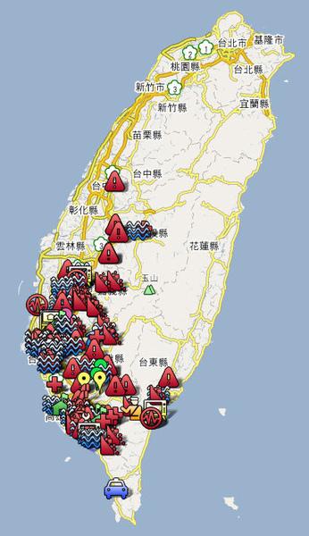 莫拉克颱風災情地圖