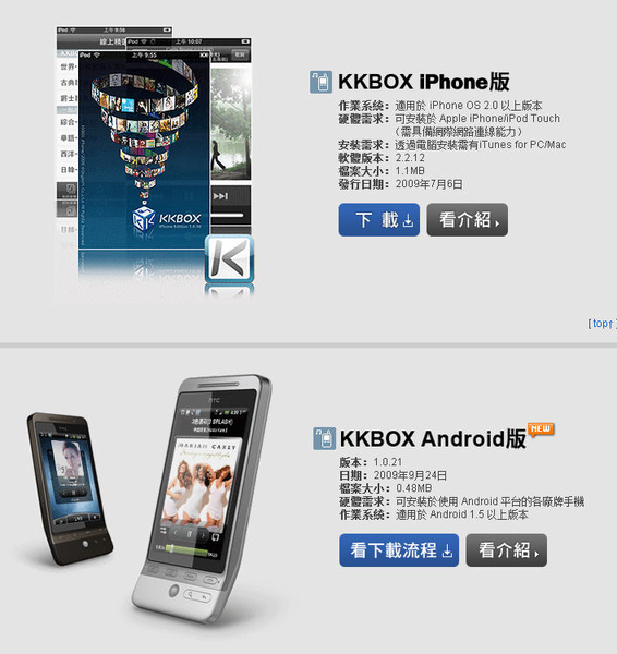 KKBox for iPhone Android