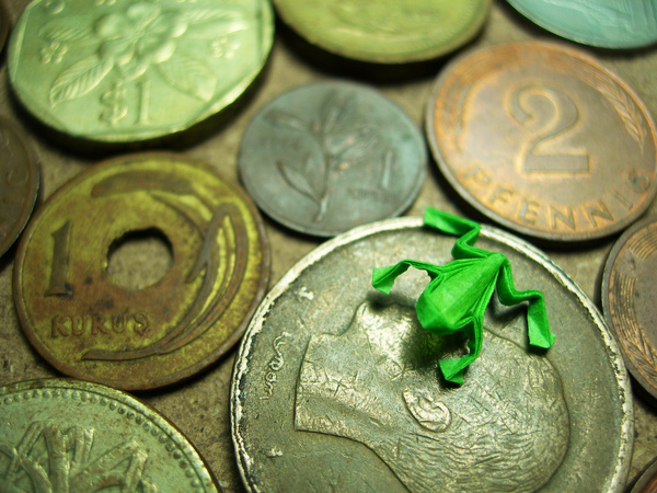 Frog and Coins